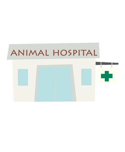 動物病院のイラスト