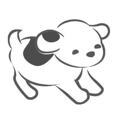 白地に黒の斑の仔犬