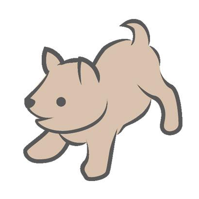 薄茶色の仔犬